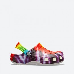 Шлепанцы Crocs Classic Tie Dye Graphic Clog Kids 205451 MULTI