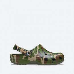 Шлепанцы Crocs Classic Printed Camo Clog 206454 ARMY GREEN/MULTI
